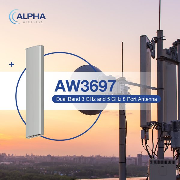 DoubleRadius Now Offers Alpha Wireless Antennas - Featuring Dual BandAW3697